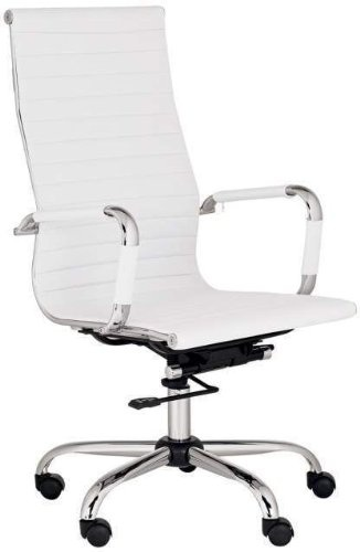 depot high back modern upholstered leather executive office desk chair